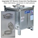 TranStore Beverage Storage & Fermentation Tank, Bronze Package 450 Gallon with Cross Arm Manway