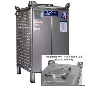 TranStore Storage & Fermentation Tank with Hinged Handwheel Top Manway & Bronze Package, 550 Gallon