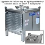 TranStore Wine Storage & Fermentation Tank with Upgraded Top Manway & Bronze Package, 350 Gallon