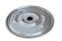 "IBC Lid Drum Cover 22-1/2"" 304 Stainless Lid with 2"" Rieke vent in center"