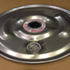 "IBC Lid Drum Cover 22-1/2"" 304 Stainless Lid with 2"" Rieke vent in center and offset 2"" bung"