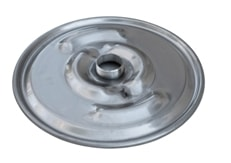 "IBC Lid Drum Cover 22-1/2"" 304 Stainless Lid with 3"" Nipple (no cap)"