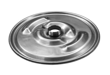 "IBC Lid Drum Cover 22-1/2"", 316SS, eyebrows, 3"" nipple"