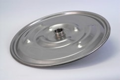 "IBC Lid Drum Cover 22-1/2"" 304 Stainless Lid w 2"" Weld Ferrule in center"