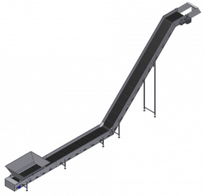 Belt conveyor, incline extended sketch