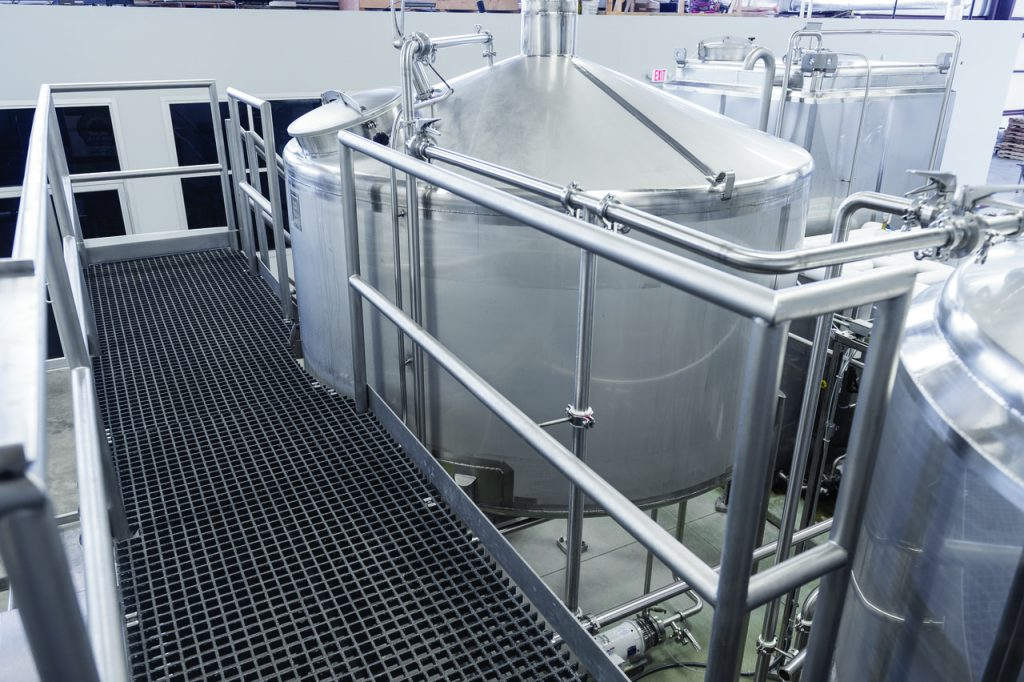 Custom Metalcraft craft brewery platform and tanks
