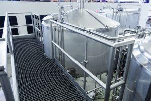 Custom Metalcraft craft brewery platform and tanks