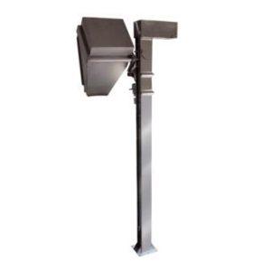 Permanently mounted macro bin column lift