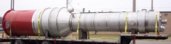 Large custom process column on truck