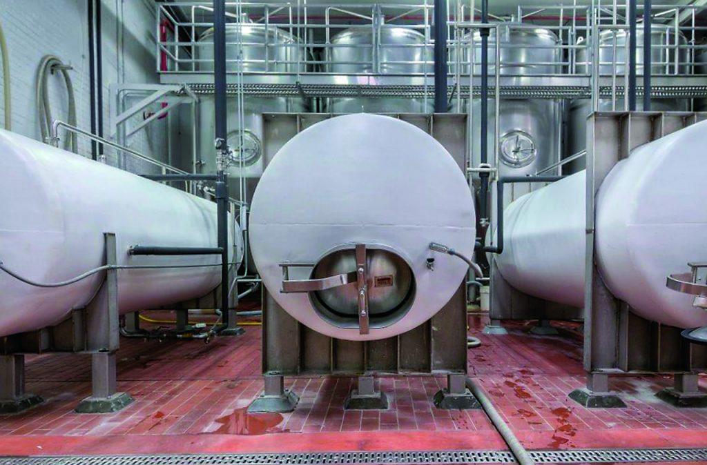 Custom Metalcraft beer storage tanks