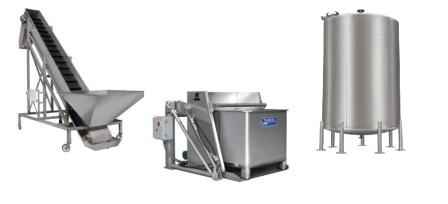 Custom Metalcraft custom sanitary process material handling equipment conveyors tanks lifts vessels