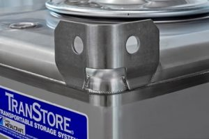 Transtore stainless steel tote ibc lifting lugs closeup